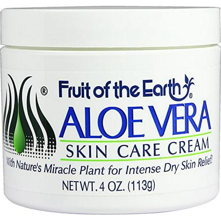 Fruit of the Earth Aloe Vera Skin Care Cream, 4 Ounce 4 Ounce Skin Condition
