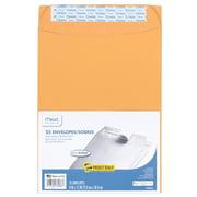 "Mead Press-It Seal-It Envelopes, Office Pak, 9"" x 12"", Kraft, 25 Count (76086)"