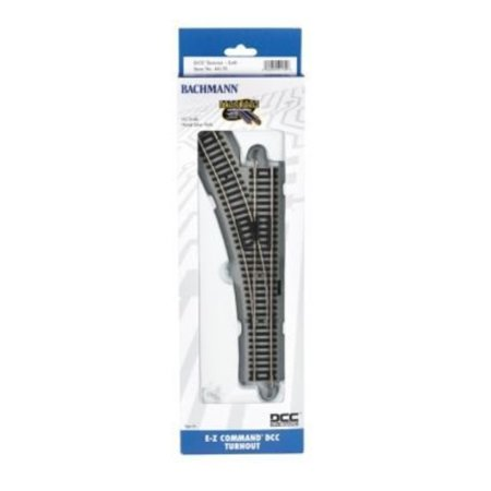 Turnout Ez Track - Bachmann - Decoder-Equipped Nickel Silver E-Z Track® Turnout - HO