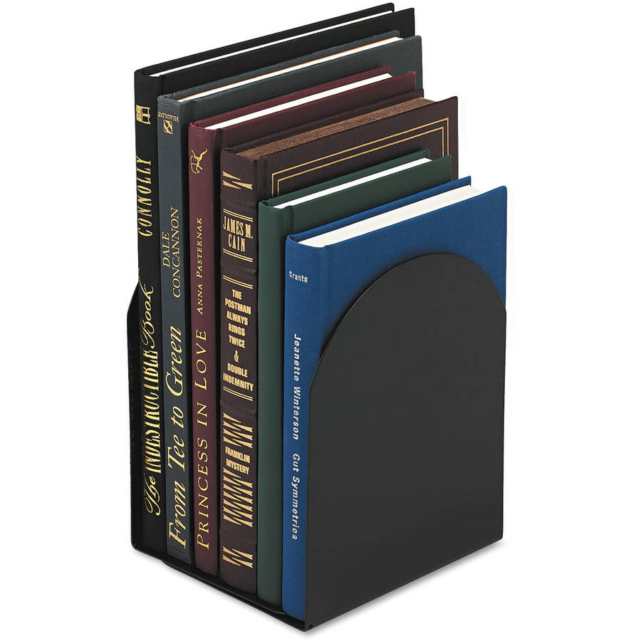 "Universal Bookends, Magnetic, 6"" x 5"" x 7"", Metal, Black"