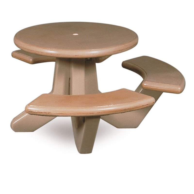 Petersen Commercial Barr Wheelchair Accessible Round Concrete Picnic Table