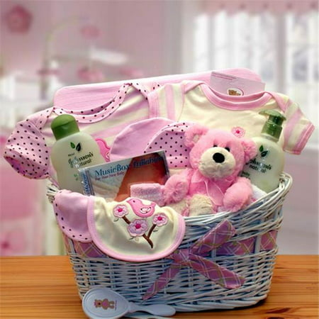 Jungle Basket - GBDS 890832-P Jungle Safari New Baby Gift Basket - Pink