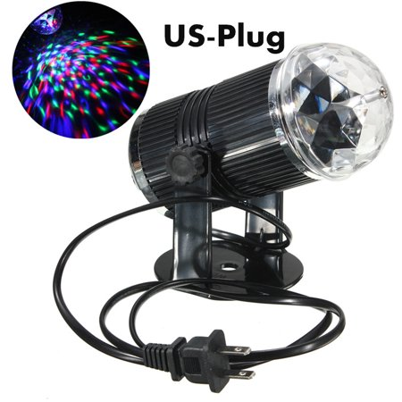 3W 3Color RGB LED Stage Light Crystal Rotating Laser Projector Magic Ball Light GLIME For Disco Party Club Bar DJ - Laser Crystal Block