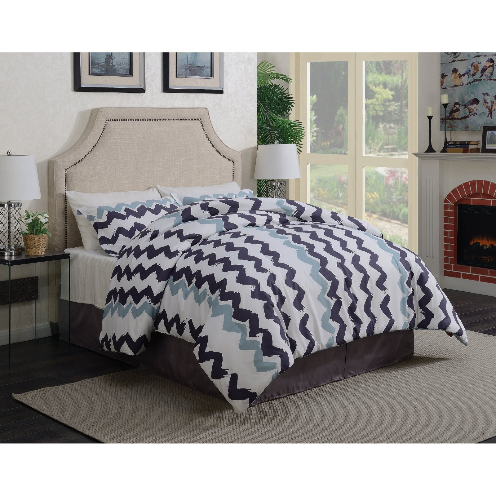 Coaster Furniture Rivera Fabric Upholstered Bed