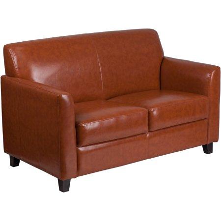 Flash Furniture HERCULES Diplomat Series Cognac Leather Loveseat