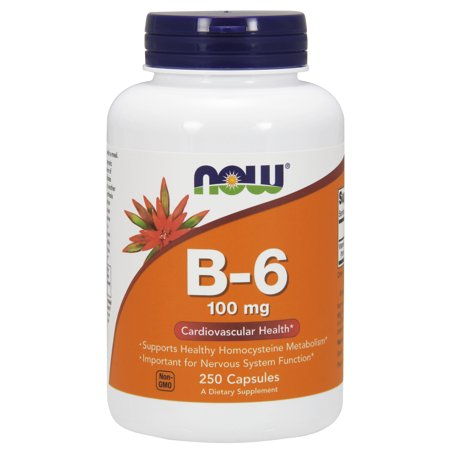NOW Supplements, Vitamin B-6 100 mg, 250 Capsules