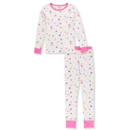 Hartstrings Girls' Rainbow Stars 2-Piece Pajamas (Hartstrings Ladybug)