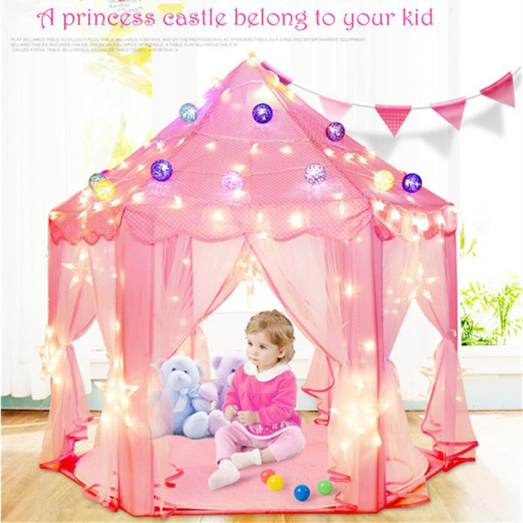 Tent For Girls Princess Large Castle Tent Tent For Kids Indoor Play Tent Folding Toy Tent Pop Up Girl Princess Castle Tent