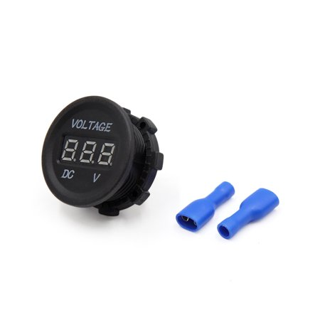 Waterproof Black Plastic Green LED Digital Voltage Gauge Voltmeter for Car Auto - image 2 de 2