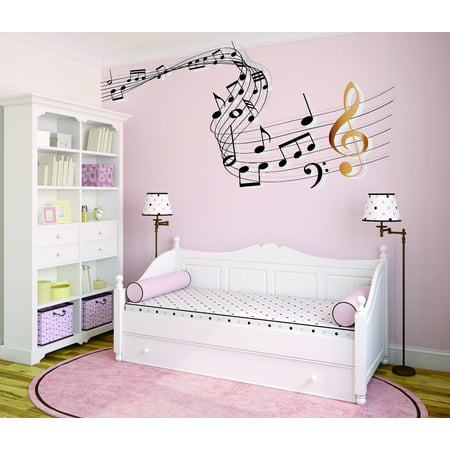 Custom Wall Decal Sticker Music Note Bedroom Living Room 16x24 Inches
