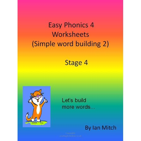Easy Phonics 4 Worksheets (Simple word building 2) - eBook (Halloween Worksheet Grade 2)