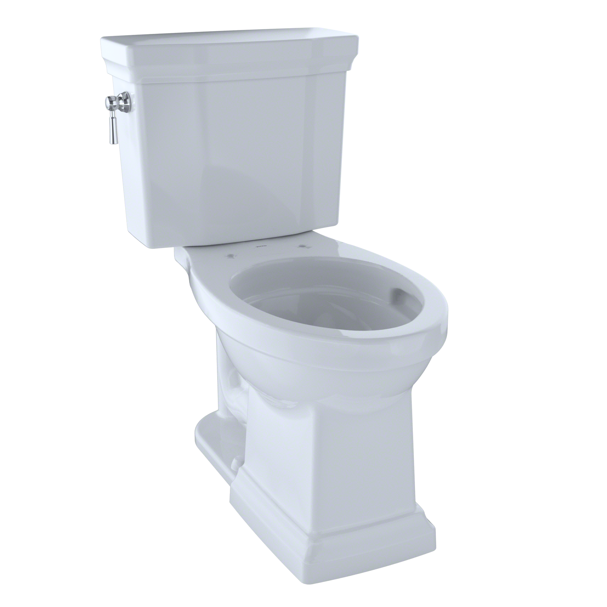 TOTO® Promenade® II 1G® Two-Piece Elongated 1.0 GPF Universal Height Toilet with CeFiONtect™, Cotton White - CST404CUFG#01