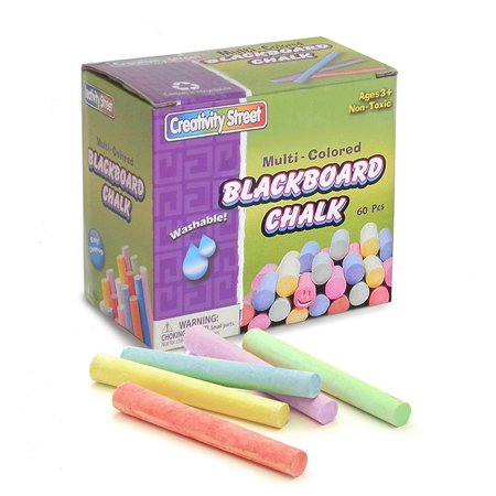 BLACKBOARD CHALK 60PC MULTI (Compressed Chalk)