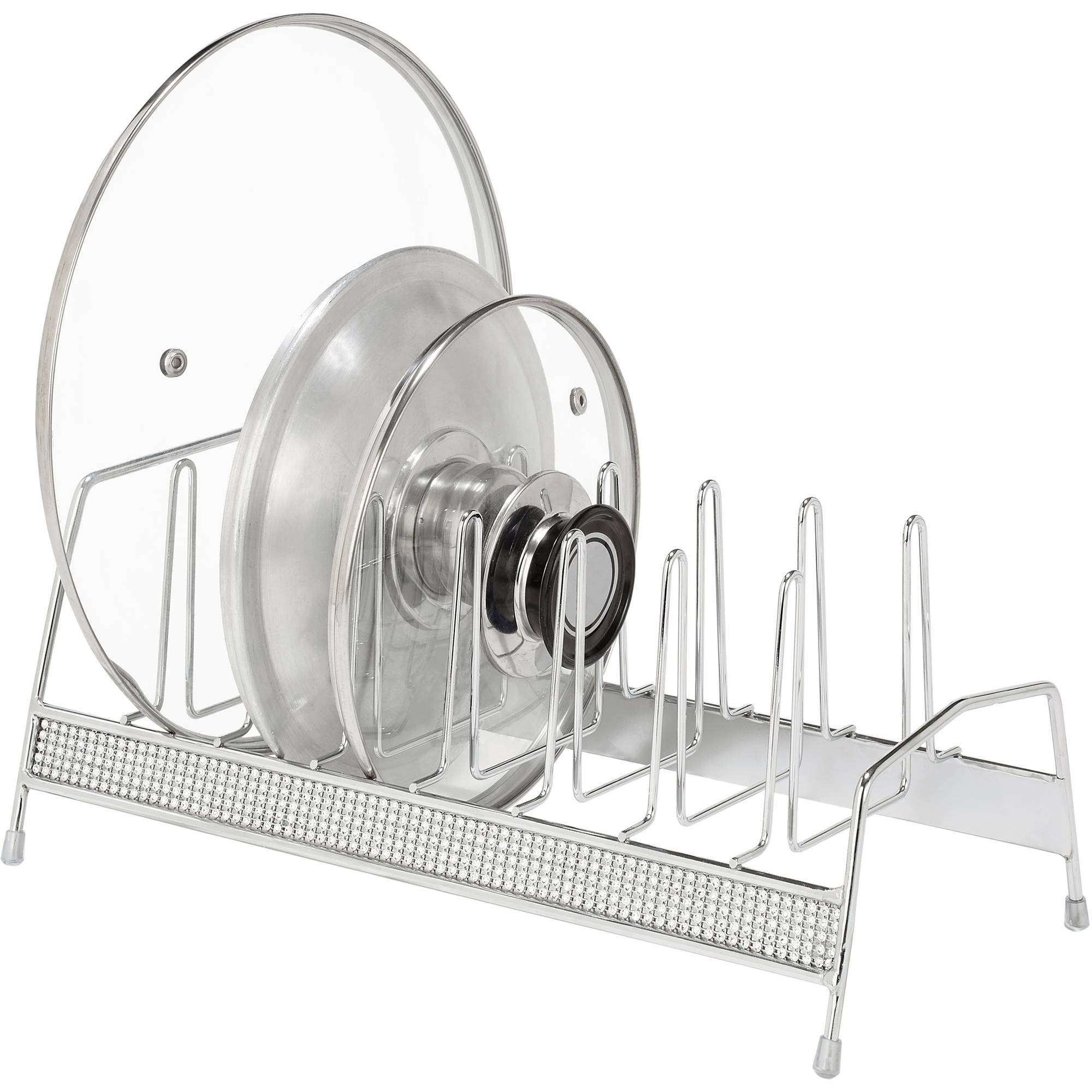 Simplify Lid Organizer, Chrome Pave Diamond Design
