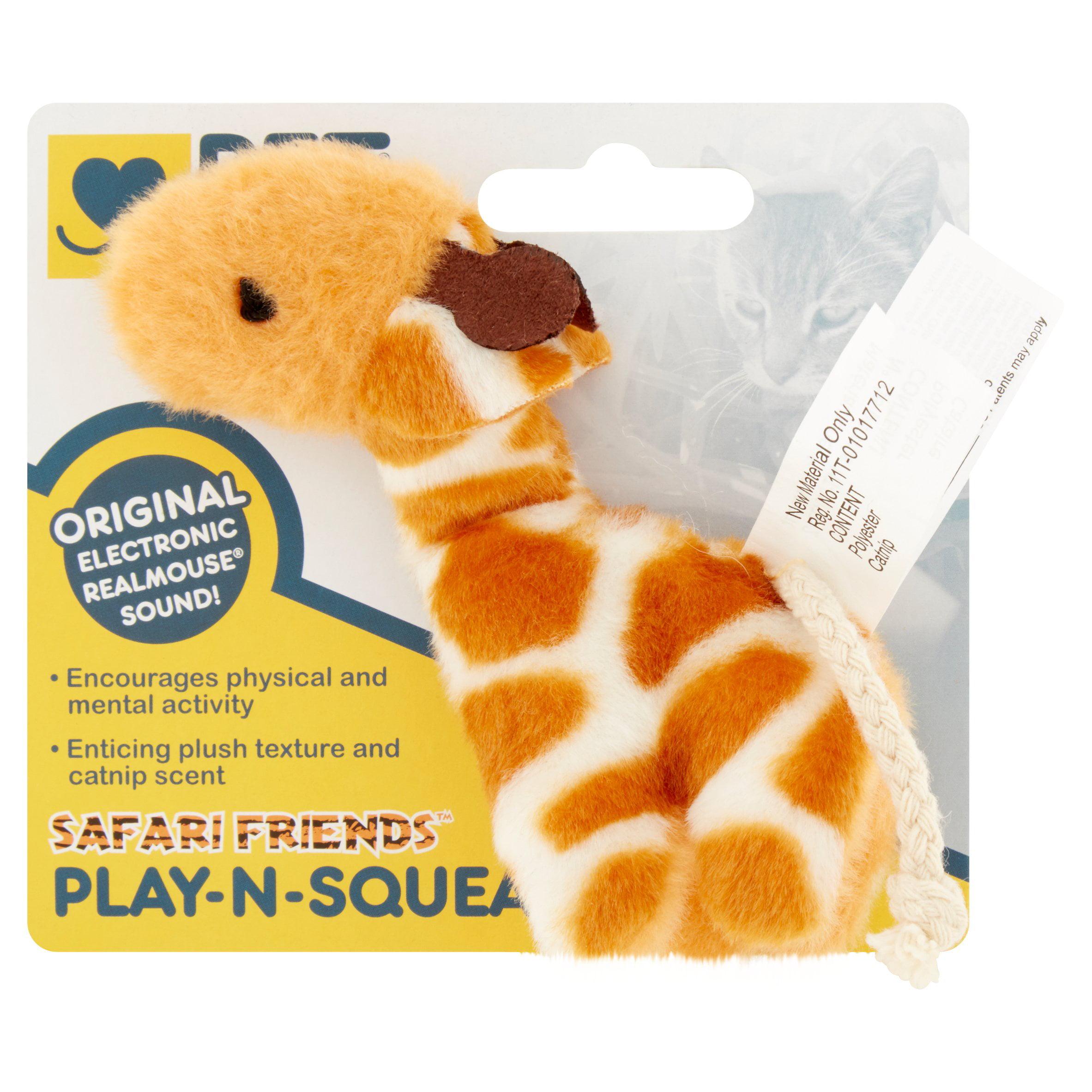 Safari Friends Play-N-Squeak Cat Toy