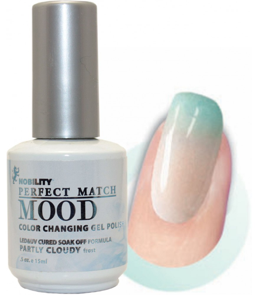 Lechat Perfect Match Mood Color Changing Gel Polish 0 5oz 15ml Mpmg02 Partly Cloudy