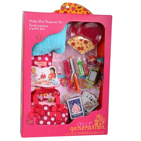 Pegged Accessory - Polka Dot Sleepover Set, Sleepover Party: This Set Has Everything You Need For A Night At Your Best Friend'S House. Who Doesn'T.., By Our (Best Actors Of Our Generation)
