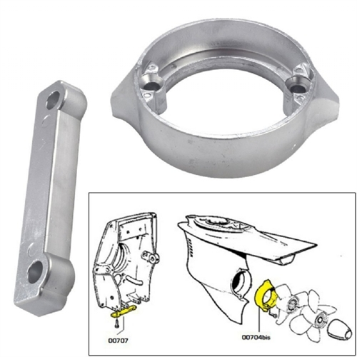 Tecnoseal Anode Kit with Hardware - Volvo Duo-Prop 280 - Magnesium 20702MG