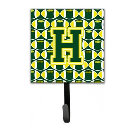Letter H Football Green and Yellow Leash or Key Holder CJ1075 HSH4