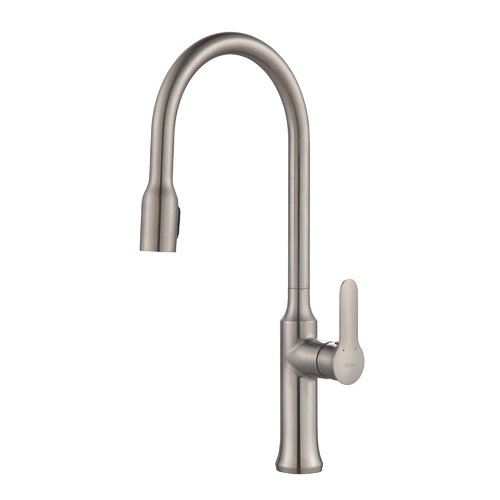 Kraus Nola Single Handle Pull Down Kitchen Faucet With Dual Function Sprayer