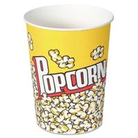 Solo. Cup V32 32 oz Paper Popcorn Cup - Popcorn Design, 50 Per Pack
