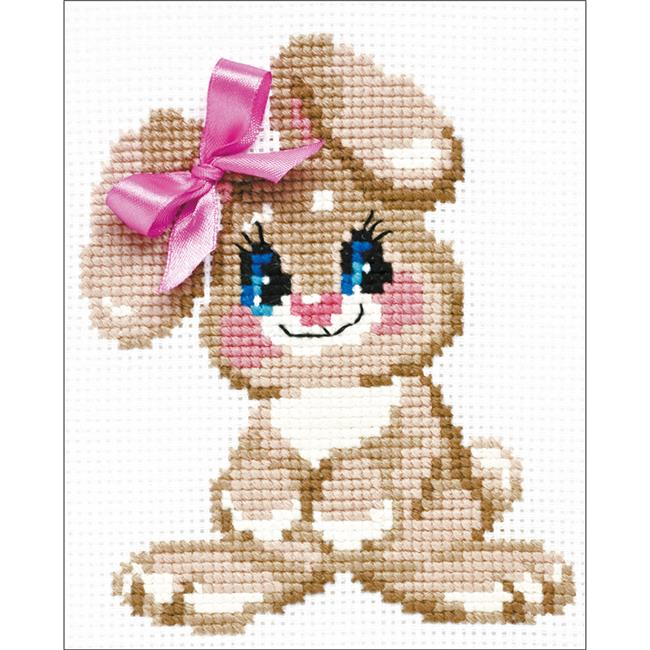 Baby Rabbit Counted Cross Stitch Kit