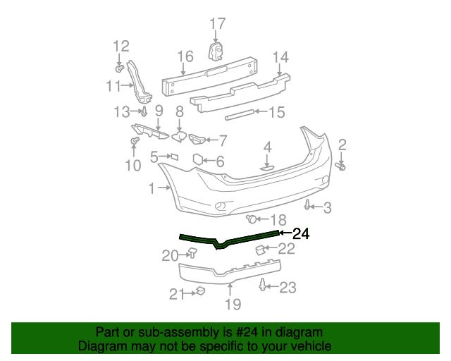 Genuine Toyota Rear Spoiler Rubber Seal 76882-02040-C1