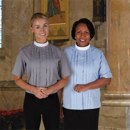 Cbcs 114Cpr 14 Womens Short Sleeve Tab Collar Blouse  44  Church Purple   Size 14