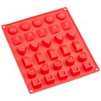 Sorbus 30-Cavity Silicone Assorted Shapes Mold for Chocolate, Jelly and Candy