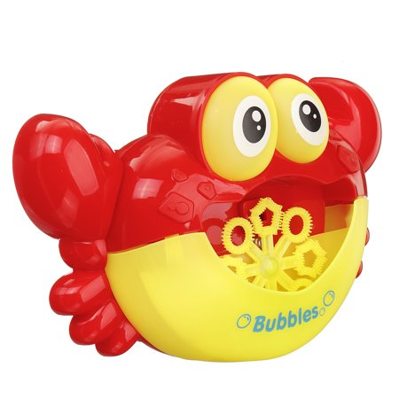 For Baby Bath Toy Bubble Machine Automatic Crab Bubble Maker Flashing lights Musical Bath Toy - Bubble Blowing Double Baby