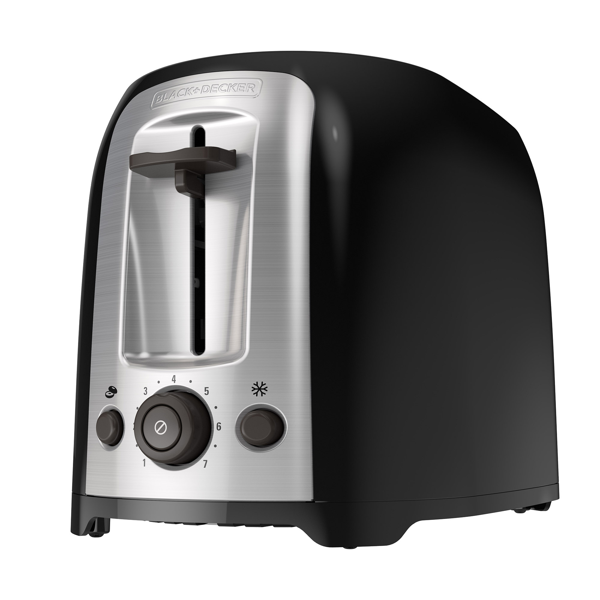 BLACK+DECKER 2-Slice Extra Wide Slot Toaster, Black/Silver, TR1278B