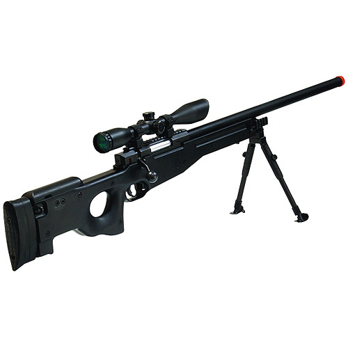Leapers AccuShot Shadow Ops Airsoft Sniper Rifle, Black