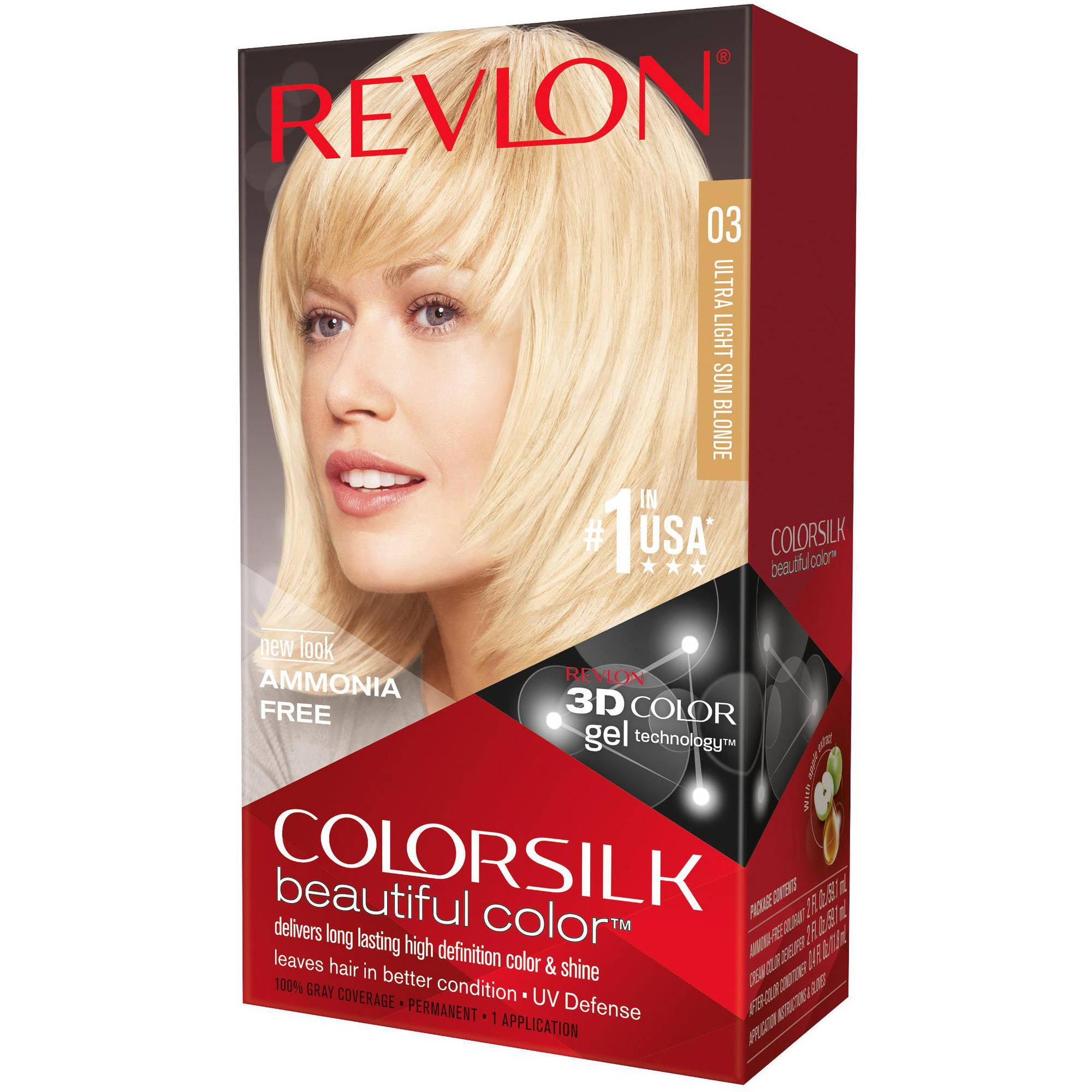 Revlon Colorsilk Beautiful Color Permanent Hair Color, 03 Ultra Light Sun Blonde