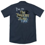 Twilight Zone I'M In The Twilight Zone (Back Print) Mens Work Shirt
