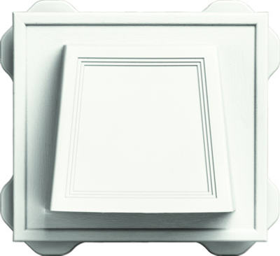 Builders Edge 140116774123 Hooded Exhaust Vent, White, 4-In.