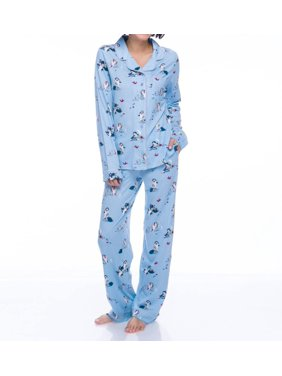 Women's Munki Munki M01820 Disney Sleepy Long Sleeve PJ