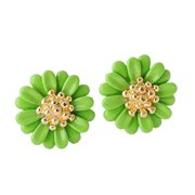 Clearance Sale Fashion Stud Earrings For Women Delicate Sunny Sunflower Cubic Zirconia Color Daisy Earring Party Gift