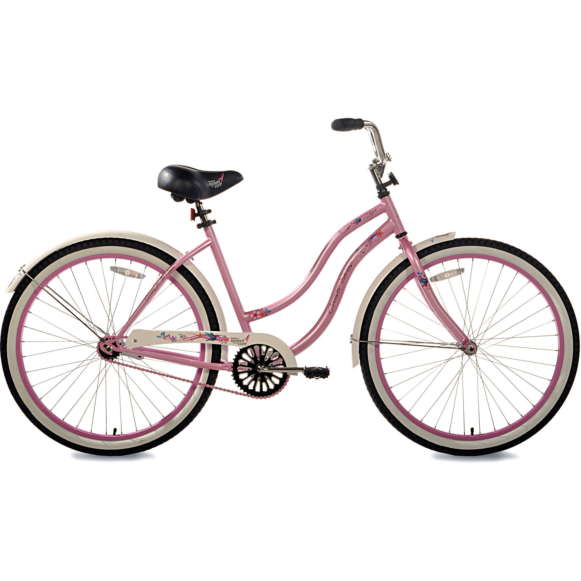 "26"" Susan G. Komen Single-Speed Women's Cruiser Bike"