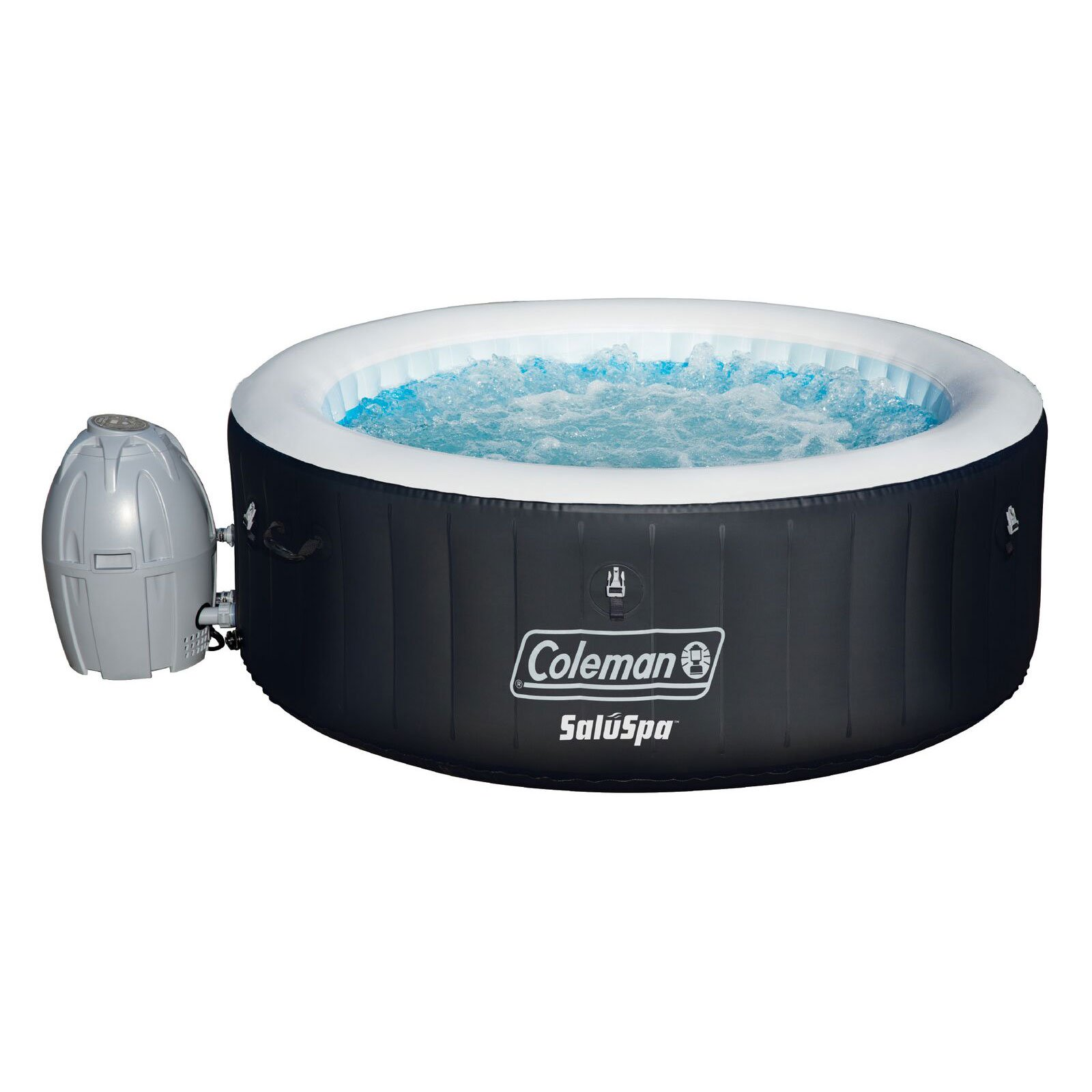 Coleman SaluSpa 4 Person Portable Inflatable Outdoor Spa Hot Tub ...