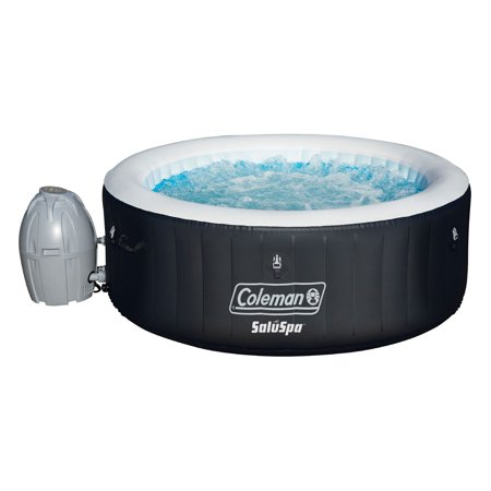 Indoor Hot Tub - Coleman SaluSpa 4 Person Portable Inflatable Outdoor Spa Hot Tub, Black