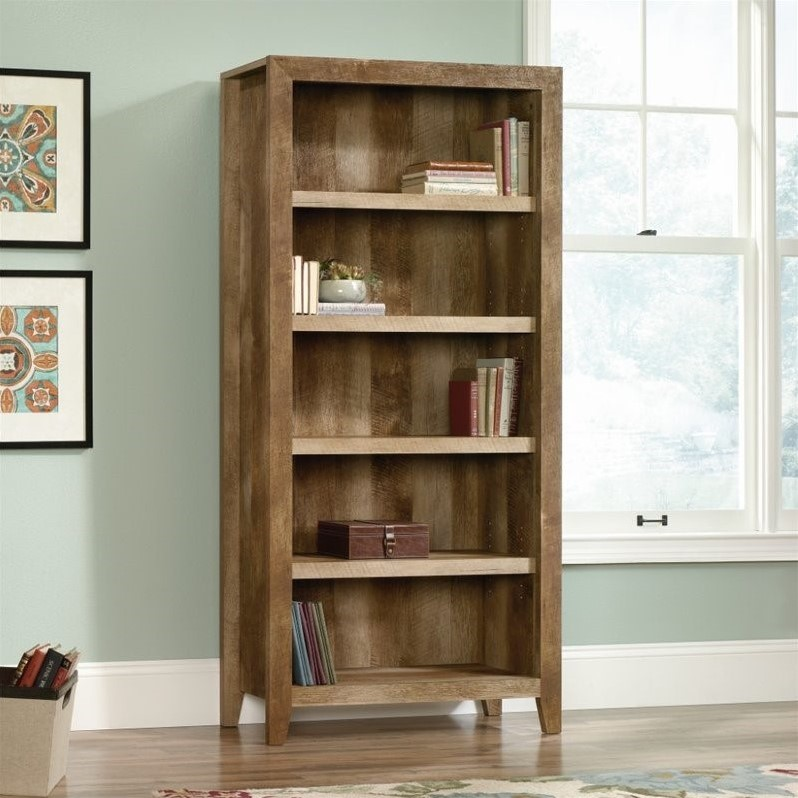 Scranton & Co 5 Shelf Bookcase in Craftsman Oak - image 3 of 5