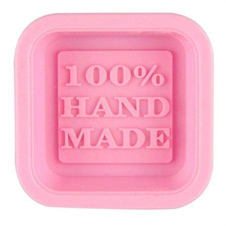 Att Silicone - Cute Craft Art Square Silicone Oven Handmade Soap Molds DIY Soap Mold