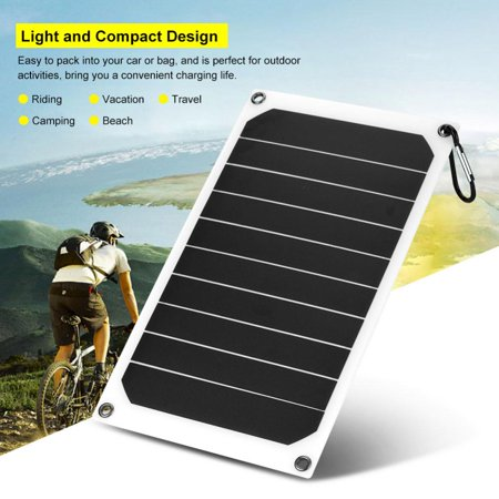 Fosa Portable 10W Outdoor IP64 Waterproof Solar Panel Mobile Power Charger 5V USB Output, Portable Solar Power Bank, Solar Charger ()