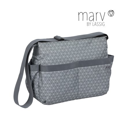Marv Shoulder Bag Tiles grey