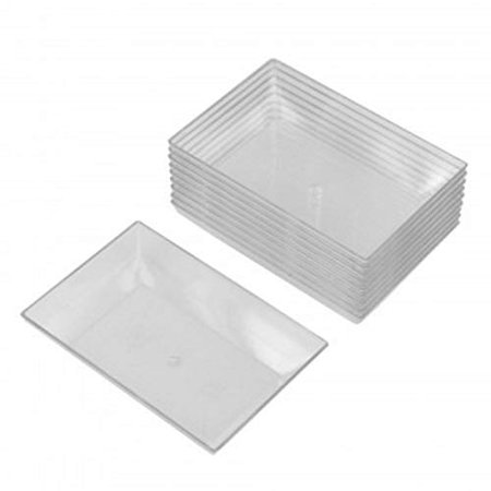 10 pc Clear Mini Individual Dipping Sauce, Appetizer and Condiment Serving Dishes