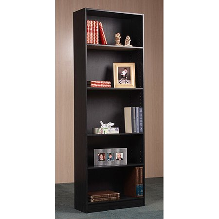 Orion 72u0022 5-Shelf Standard Bookcase, Black