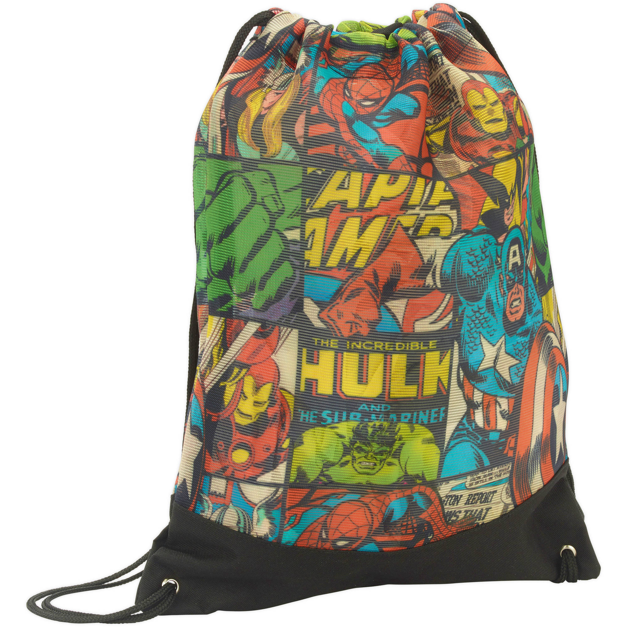 License Mesh Cinch Bag-marvel Comic - Walmart.com