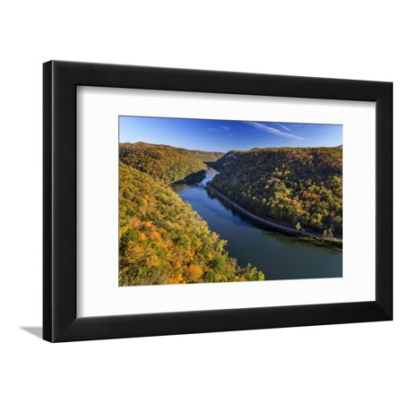Orange Is The New Black George Mendez (The New River Gorge, Hawks Nest State Park, Autumn, West Virginia, USA Framed Print Wall Art By Chuck)