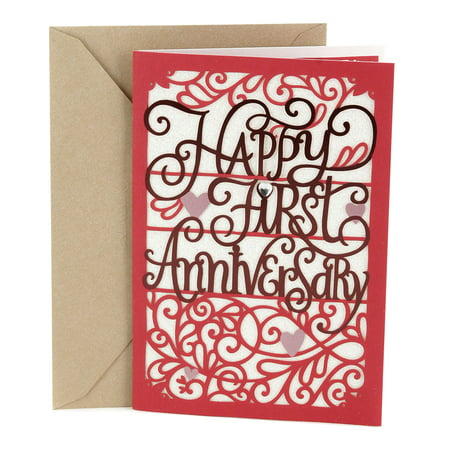 Hallmark 1st Anniversary Greeting Card (Happy First Anniversary)