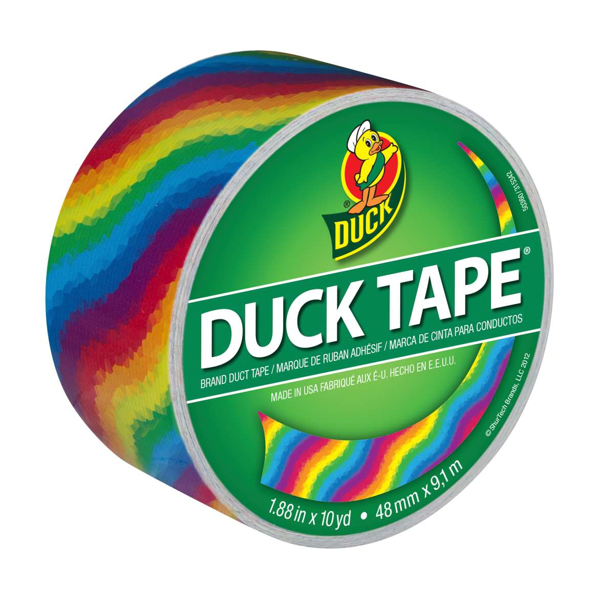 Duck Brand Duct Tape, 1.88 in. x 10 yds., Rainbow